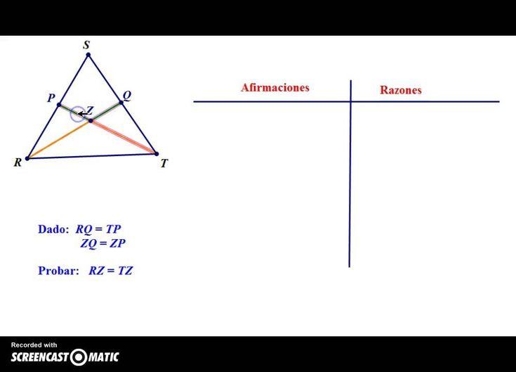 Demostraciones a dos columnas en geometría