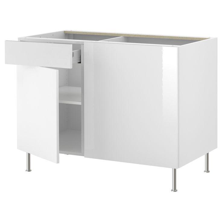 Table D Angle Ikea #15: AKURUM Armoire Inf Du0027angle+tablette - Blanc, Abstrakt Ultrabrillant Blanc -  IKEA