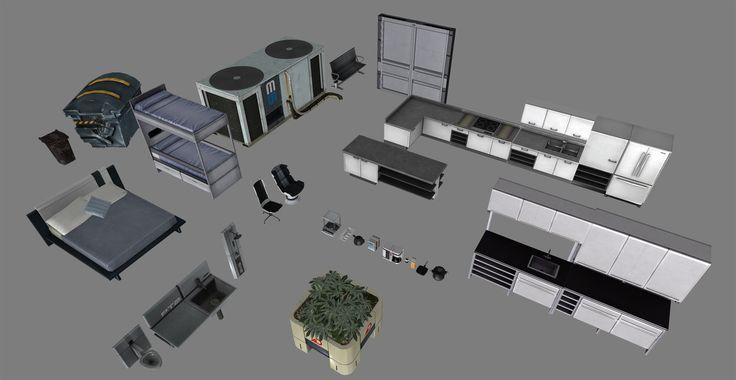 ME3 Home Furniture Models (Downloadable) by Anna-Trocity.deviantart.com on @DeviantArt