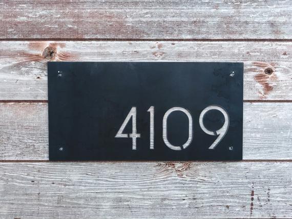 Custom Mid Century Modern House Number Plaque House Number Etsy In 2020 Modern House Number Mid Century Modern House Midcentury House Numbers