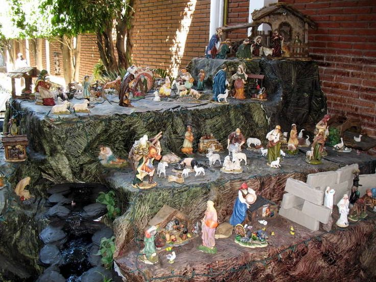 Mexican Nativity scene in layers