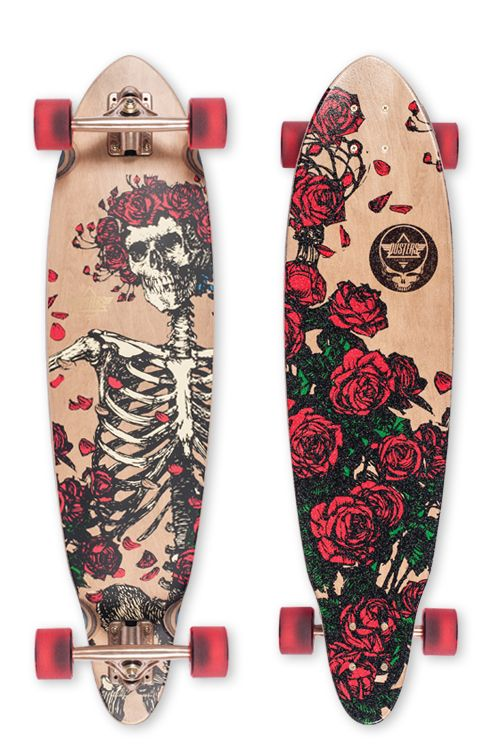 Dusters California x Grateful Dead | Bertha Longboard Skateboard