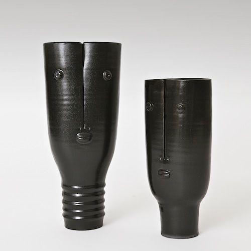 Atelier Dalo - Vases Idole, glazed stoneware.  www.galerieriviera.com