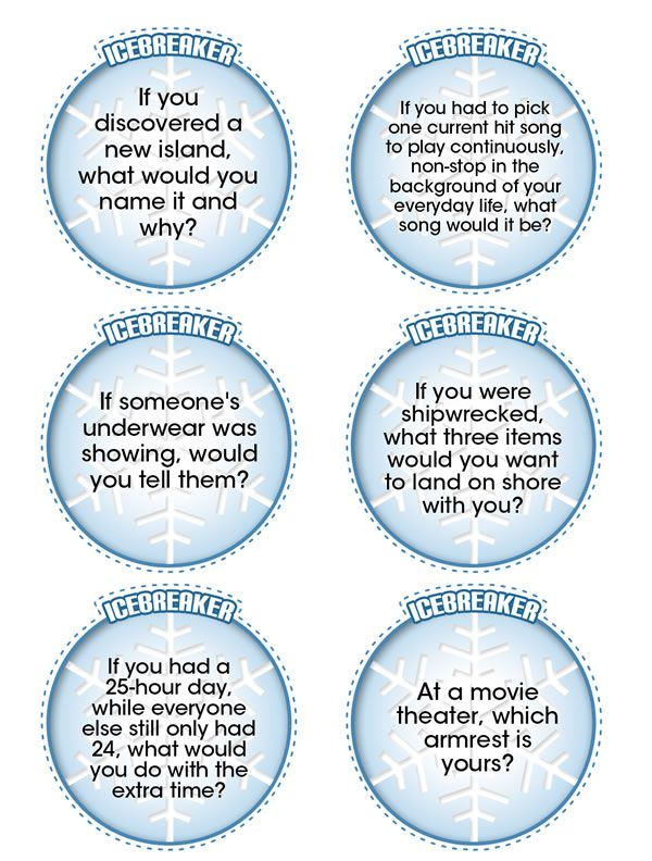 Totally random (and totally printable) icebreaker questions to get the party…