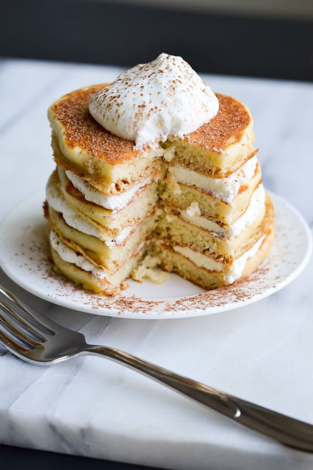 Tiramisu Pancakes! Have your favorite dessert for breakfast!