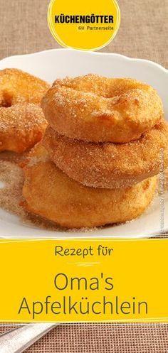 Einfaches Rezept für leckere Apfelküchlein wie bei Oma.
