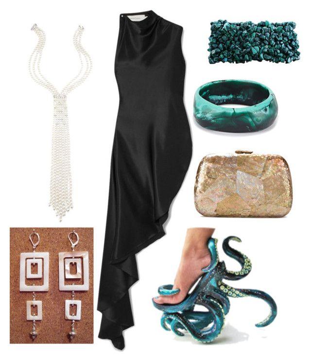 """My Style: Ursula Theme"" by miwemporium92 on Polyvore featuring Marques'Almeida, Utopia, Serpui, Dinosaur Designs and NOVICA"