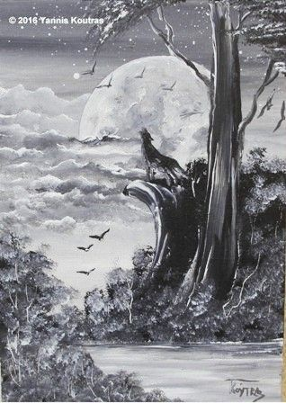 wolf Acrylic on Canvas