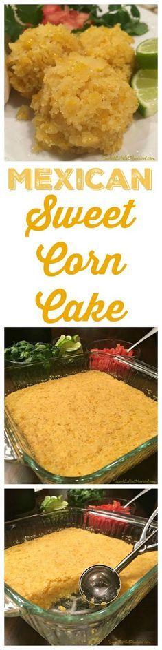 MEXICAN SWEET CORN CAKE - The perfect side dish for any Mexican meal, Sweet Corn Cake! Just like the sweet corn side dish served at your favorite Mexican restaurants like Chi Chi's, Chevys Fresh Mex & El Torito!   SweetLittleBluebird.com