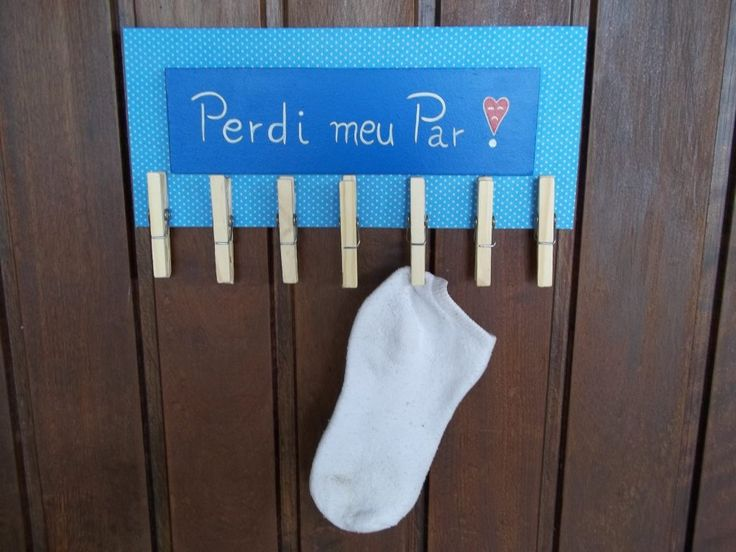 Dica de organização para a lavanderia – Mini varal para meias perdidas