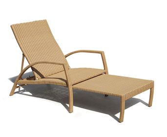 Monaco All Weather Lounger Honey Wicker