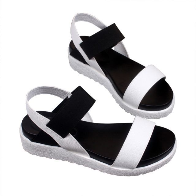 ad8b5437942b1 Hot Sale Women sandals women Summer shoes peep-toe flat Shoes Roman sandals  mujer sandalias Ladies Flip Flops Sandal Footwear Note: Our shop display is  US