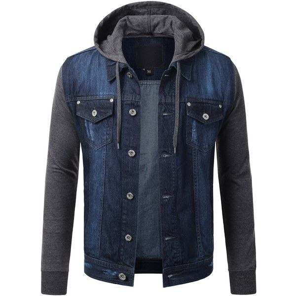 1000  ideas about Denim Hooded Jacket on Pinterest | Jean jacket