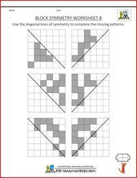 Block Symmetry sheet 8 with diagonal mirror lines