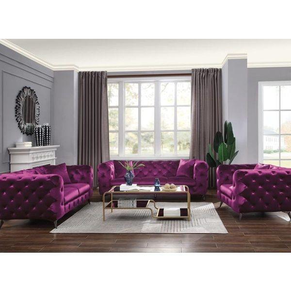 54905 Acme Astronia Purple Sofa Collection In 2020 Purple Living Room Purple Living Room Sofas Living Room Sofa