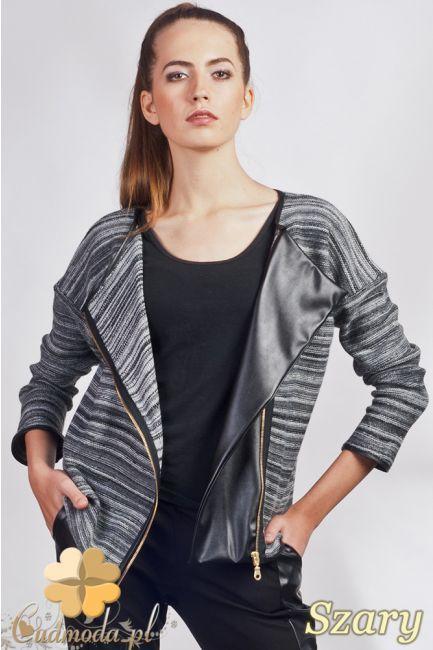 Rozsuwana narzutka damska - sweter z długimi rękawami.  #cudmoda #ubrania #moda #styl #bluzka #bluzki #clothes