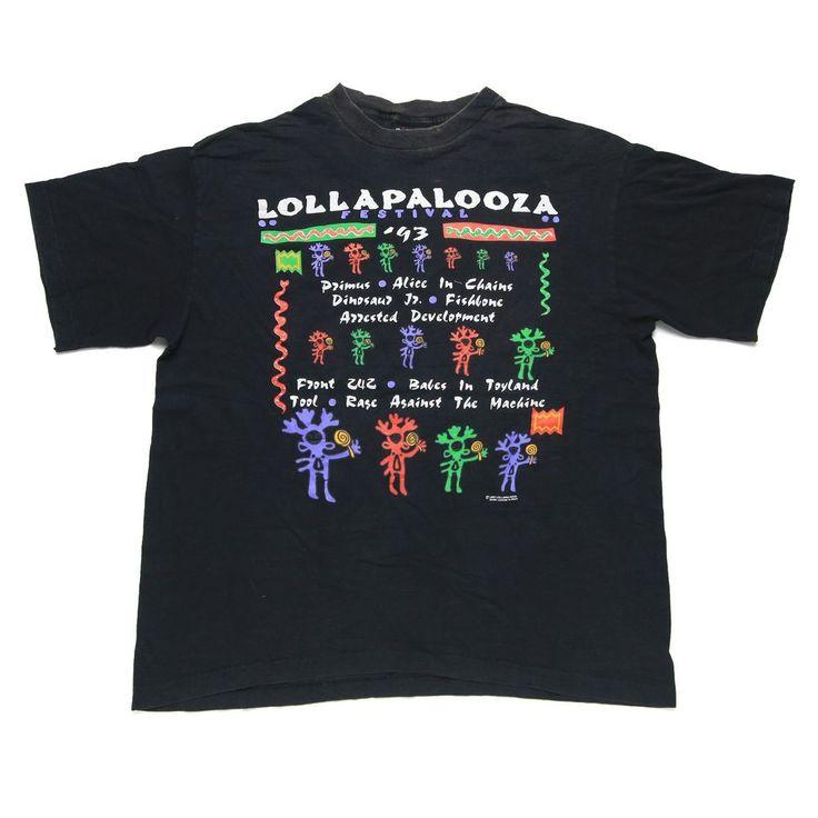 Vintage Lollapalooza 1993 Music Festival Concert Tour T-Shirt for sale! https://www.ebay.com/itm/152923806818 #vintage #90s #Lollapalooza #Concert #Tour #MusicFestival #T #TShirt #Primus #AliceInChains #DinosaurJr #RATM #RageAgainstTheMachine #BabesInToyland #Tool #Fishbone #ArrestedDevelopment