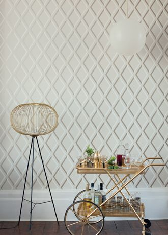 Pompeian wallpaper from Cole and Son if only it were honeycomb
