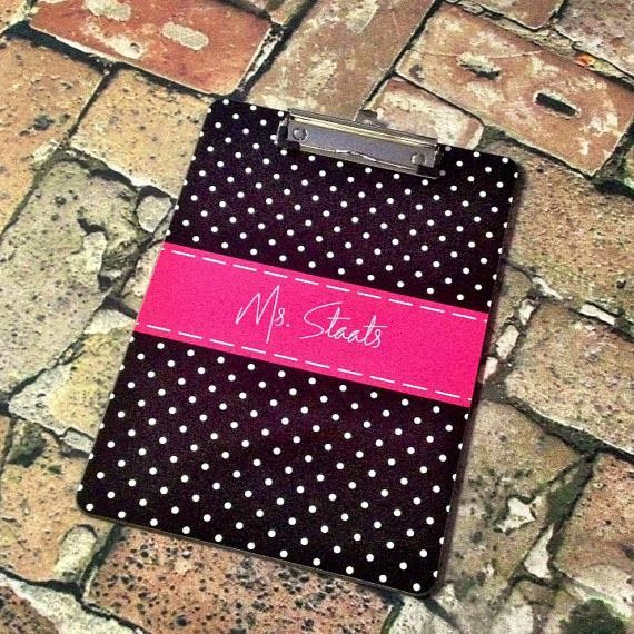 Custom Design Personalized 2 Sided Clipboard with Dry Erase Surface - http://www.thecutekiwi.com/custom-design-personalized-2-sided-clipboard/
