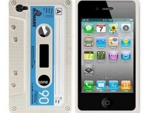 Custodia iphone musicassetta