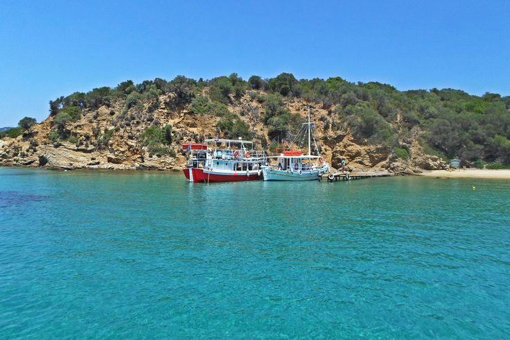 #ship #beach #island #greece #summer #bluesky #clearwater #sea #travel