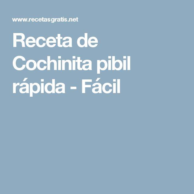 Receta de Cochinita pibil rápida - Fácil