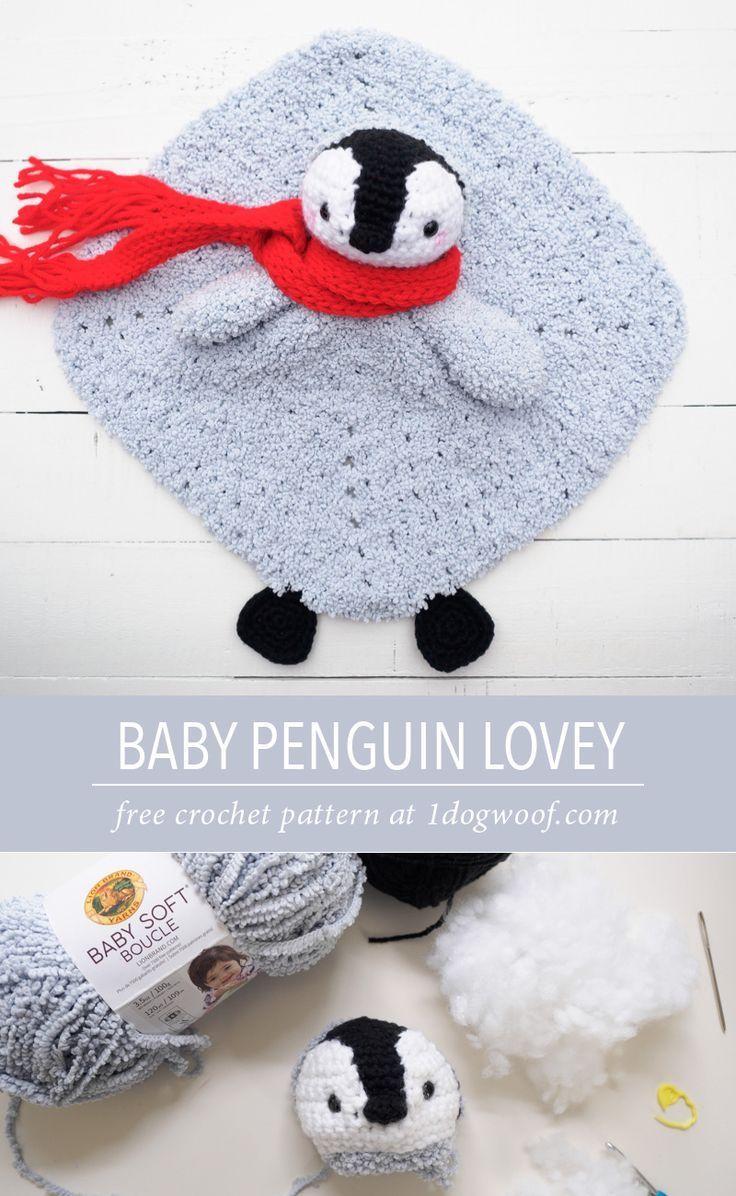 Baby Penguin Crochet Lovey Security Blanket   My likes   Pinterest ...
