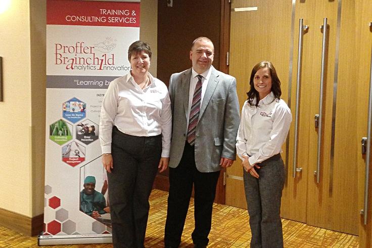 Proffer Brainchild President, Jon Padfield with Consultant, Kim Everett (L) and Advisory Board member, Lindsey Roark