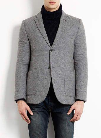 Grey Quilted Blazer