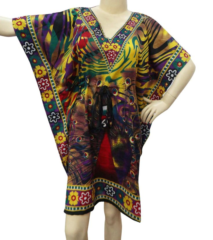 Beautiful Floral print Short kaftan/dress ..this is img