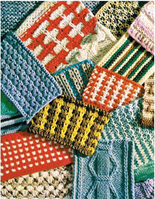 ABC pletení.  Cvičení № 34. Vzory pro pletené zboží