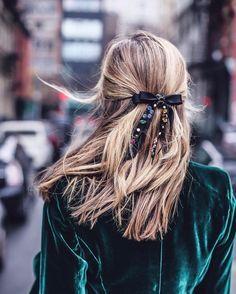 Green Velvet & festive bow.