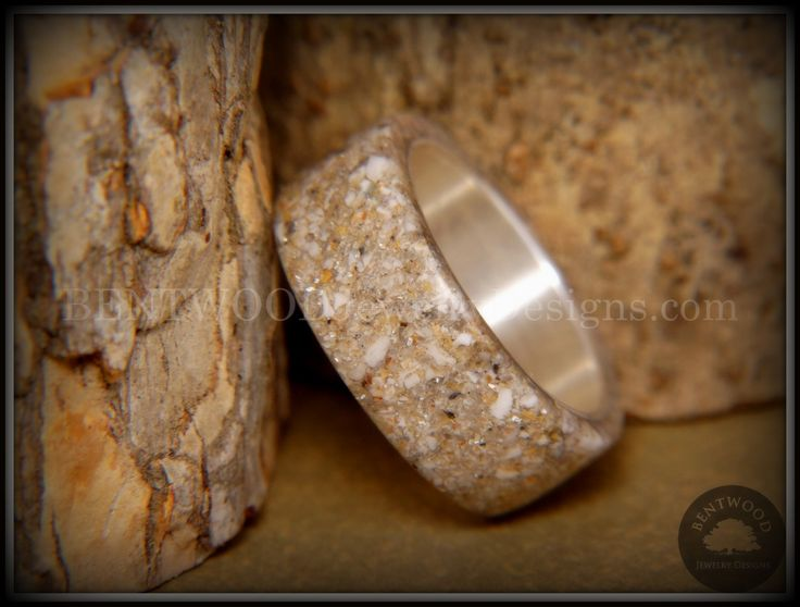 """Bentwood Ring - """"Remembrance"""" Cremation Ashes on Pure Silver Core"""