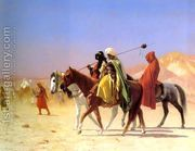 Arabs Crossing The Desert  by Jean-Léon Gérôme