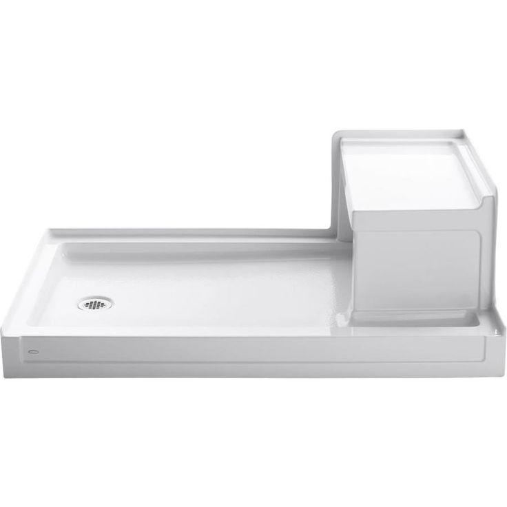 KOHLER Tresham White Acrylic Shower Base (Common: 36-in W x 60-in L; Actual: 36-in W x 60-in L)