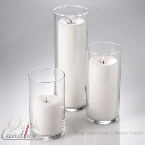 LOVE THESE!! Set of 3 Glass Cylinder Candle Vases.