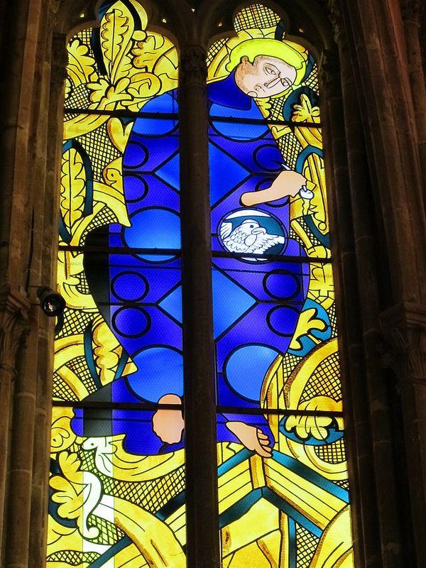 Vitrail de Jean-Michel Alberola - Cathédrale Saint-Cyr-et-Sainte-Julitte, Nevers (58) | by Yvette Gauthier