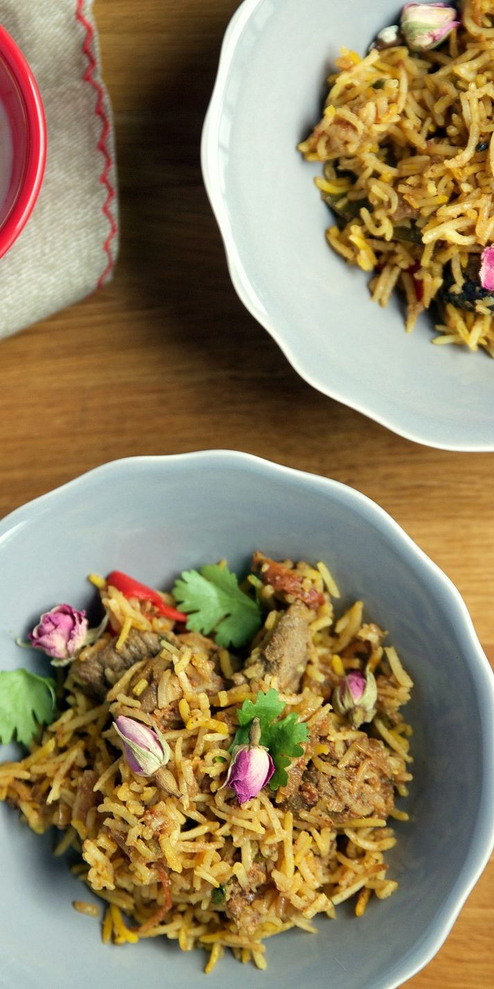 Sumayya shares her recipe for Pakistani beef biryani, a richly spiced and aromatic dish that is perfect for celebrations, thanks to the addition of luxurious rose water and petals. For further inspiration, read Sumayya's favourite Eid lunch memories.