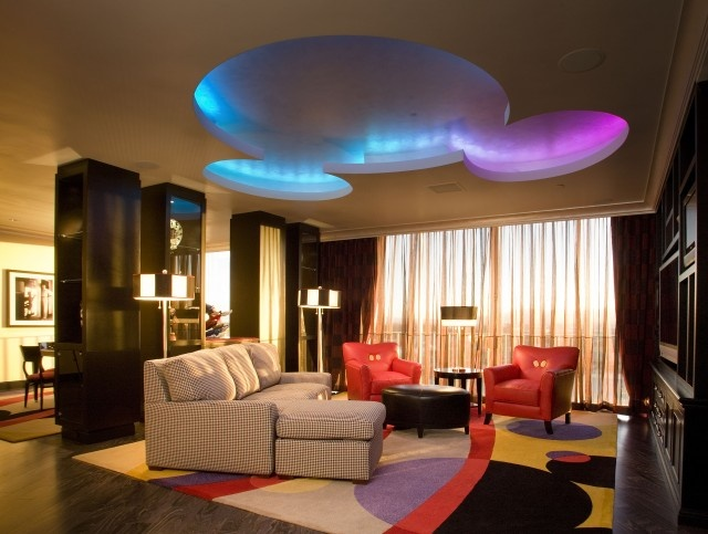 Mickey Mouse Penthouse living room at the Disneyland Hotel. Look at the ceiling..! #disneyland