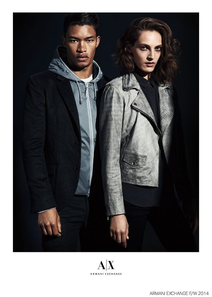 Raphael Balzer Models Smart Urban Styles for Armani Exchange Fall 2014 Campaign
