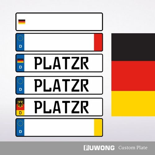 The custom German license plate for sale. German license plate, Euro style plate, D custom front license plate. Have number plate machines for making plates