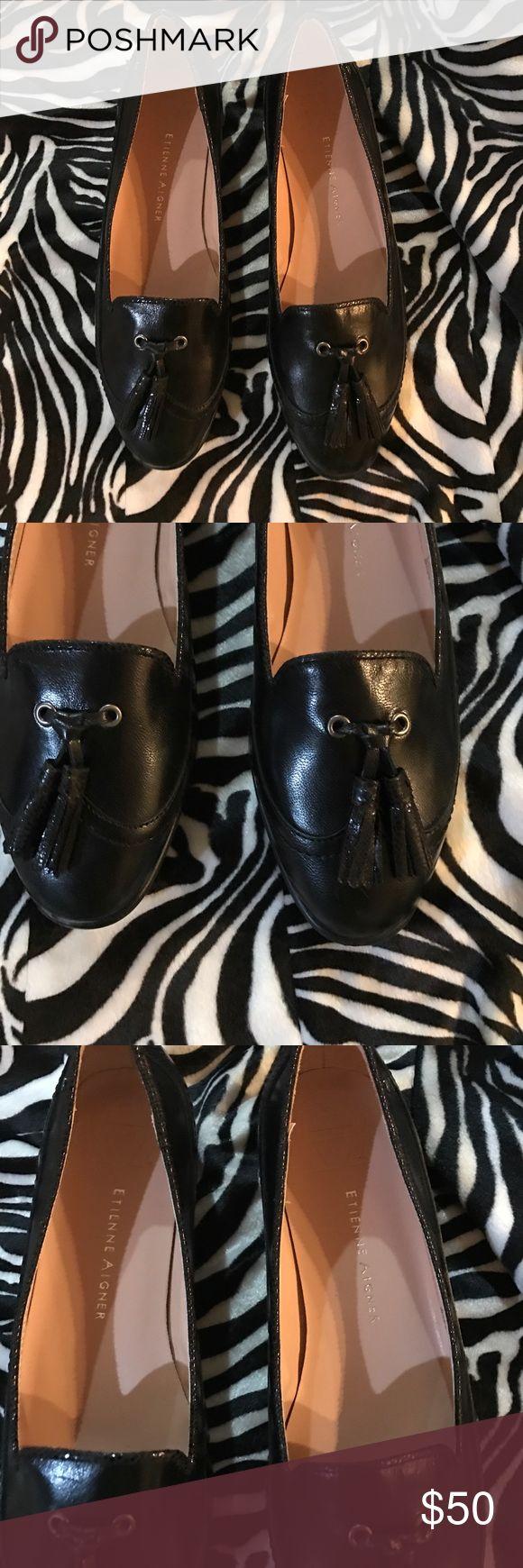 Etienne aigner black leather gloves -  Etienne Aigner Shoes Ladies Sz 7 1 2m