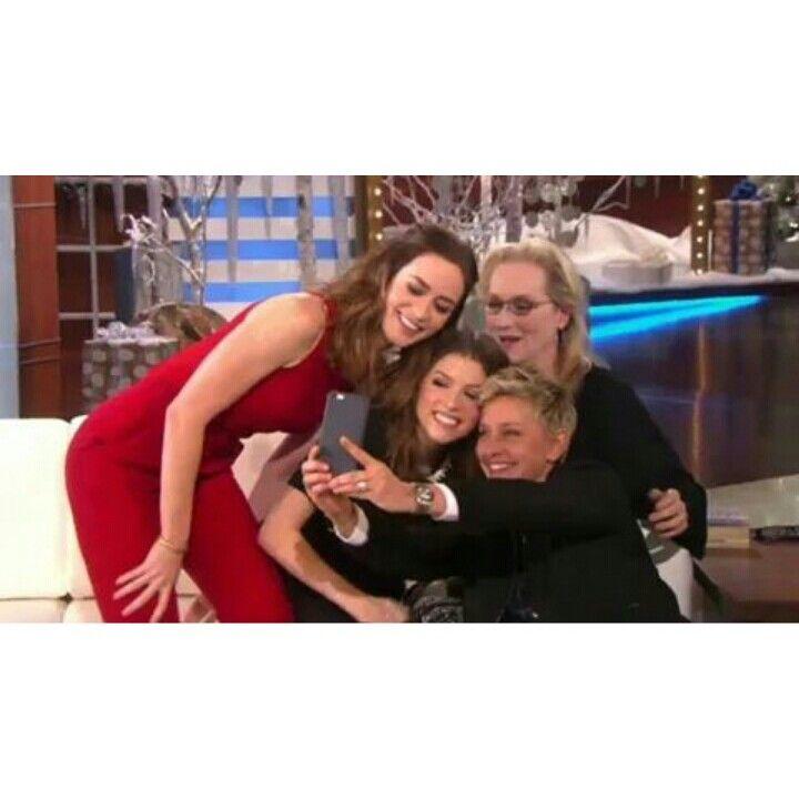 Meryl will be at The Ellen Show today! Ellen de Generes, Emily Blunt, Anna Kendrick