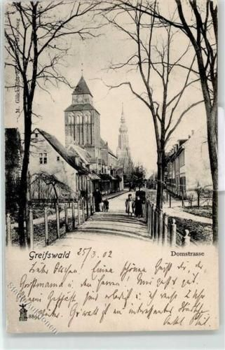 52093674-Greifswald-Hansestadt-1902-Domstrasse-Dom