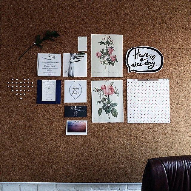 У меня появился маленький офис и огрооооомная пробковая стена для мудбордов