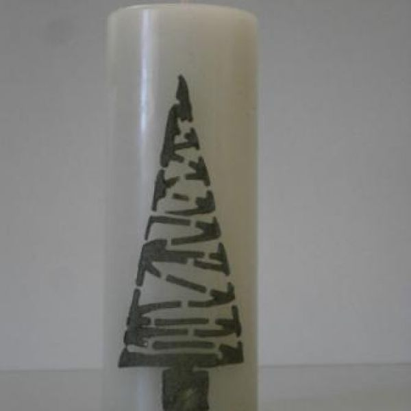 Christmas trees on the candle