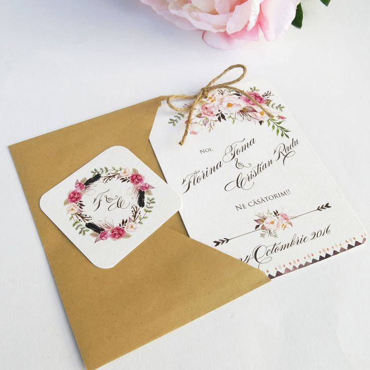 Invitatie de nunta Boho Chic