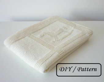 Baby blanket knitting pattern / knit baby blanket pattern / baby blanket pattern  / knitting pattern for babies