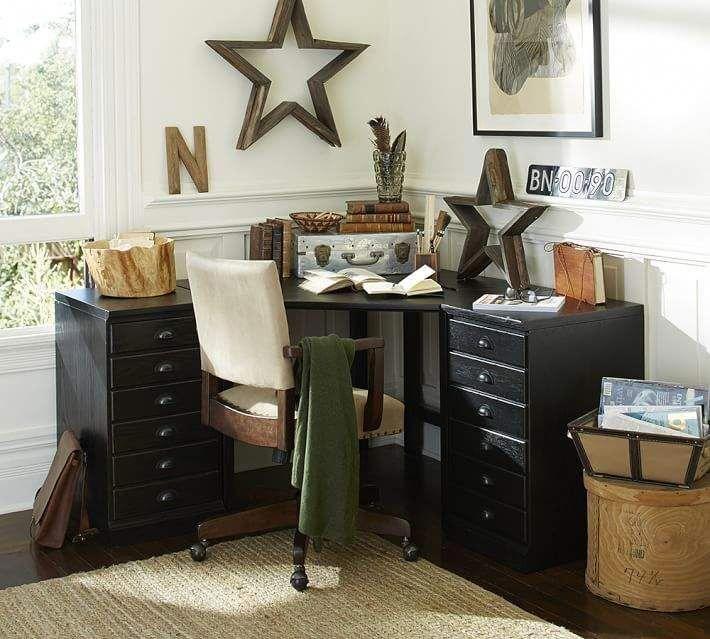 Pottery Barn Printer S Corner Desk Set