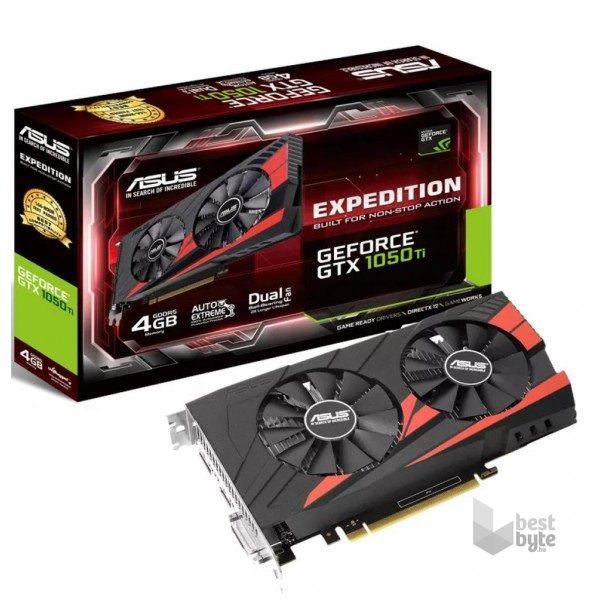 ASUS EX-GTX1050TI-4G nVidia 4GB GDDR5 128bit PCIe videokártya